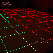 Top quality rgb floor event party wedding led dance dream color strip with connector