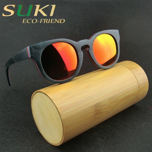 Korean glasses frames mustache glasses WOODEN