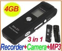 4GB Mini Camera Webcam DV DVR Voice Audio Recorder MP3 / LCD Screen