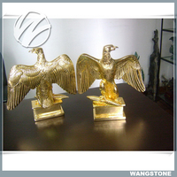 Interior Decoration Small Size Brass Casting Eagle Sculpture