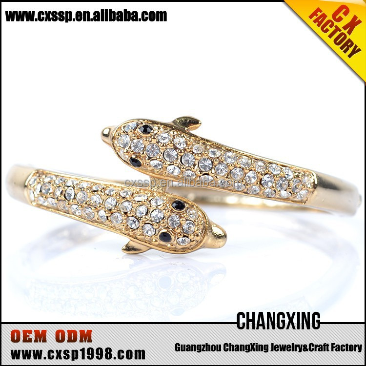 Best price fantasy jewelry animal bangle design gold bangles