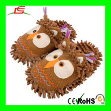 winter indoor animal owl plush shaped slippers shoes