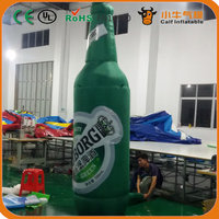 Hot promotion unique design inflatable beer bottle model for sale