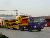 Heavy duty 60 ton low flatbed semi trailer/ low bed truck trailer