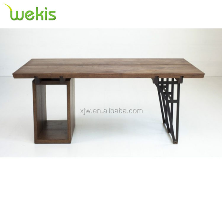 Small Type Office Clerk Metal Computer Desk Wooden Conference Long Desk