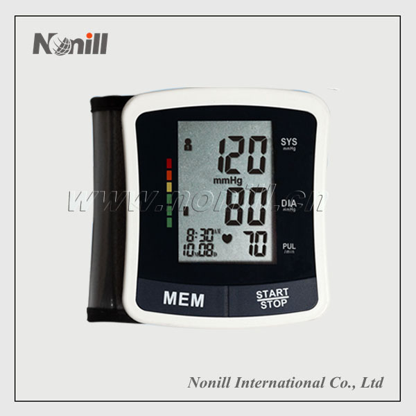CE Quality Large Screen Digital Wrist type Blood Pressure Monitor