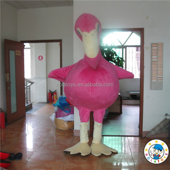 Flamingo costume/animal costume/adult plush animal costume