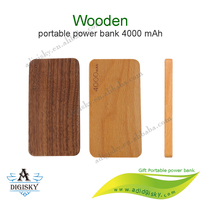 oem supply 10mm wood power bank 4000mah for mobile phones best portable power bank