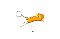 A21-M009AL Folding Multi-function Key Chain Rabbit Shape Outdoor Tool