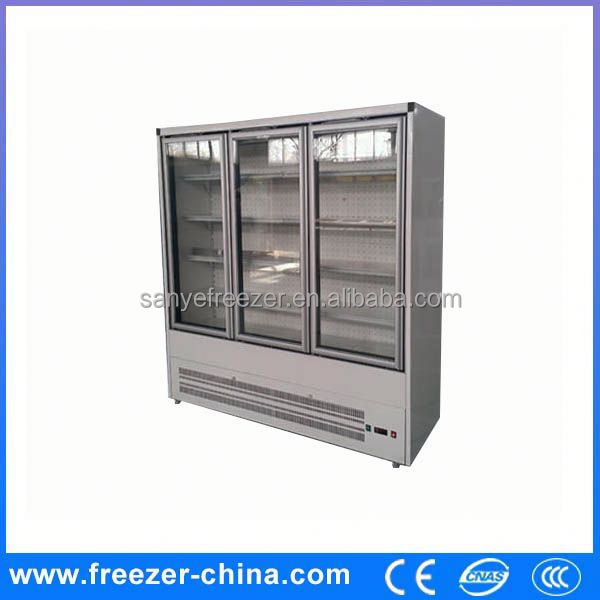 Glass door old refrigerator brands/commercial refrigerator