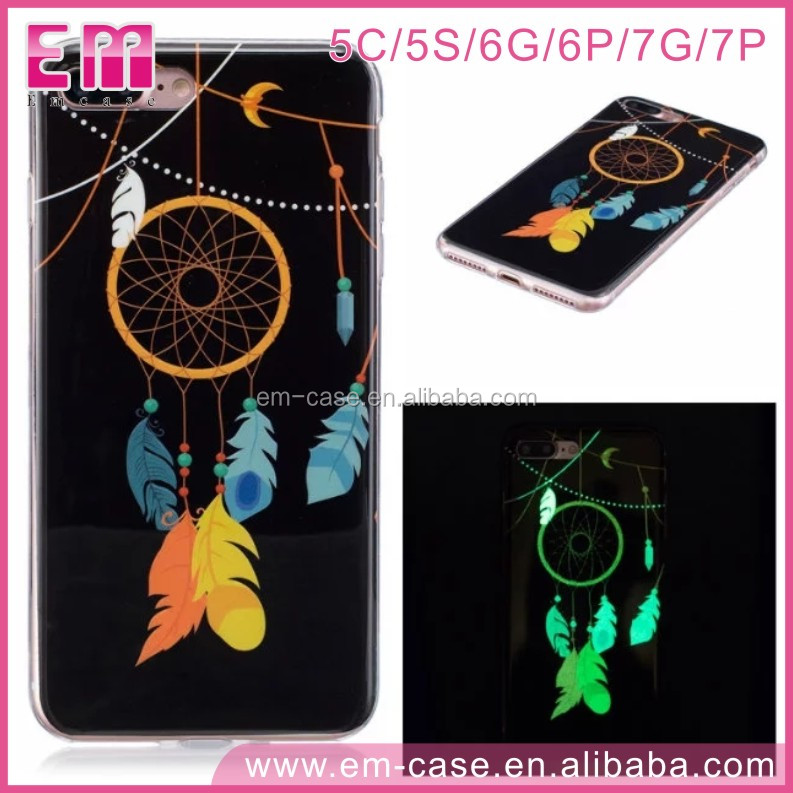Look! For iPhone5 5s 6 6plus 7 7plus IMD Series Fancy Luminous Tole Painting TPU Cell Phone Case