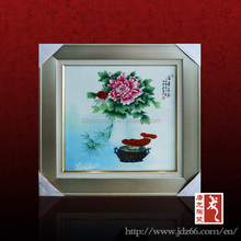Jingdezhen hand painted ceramic wall decorative panel