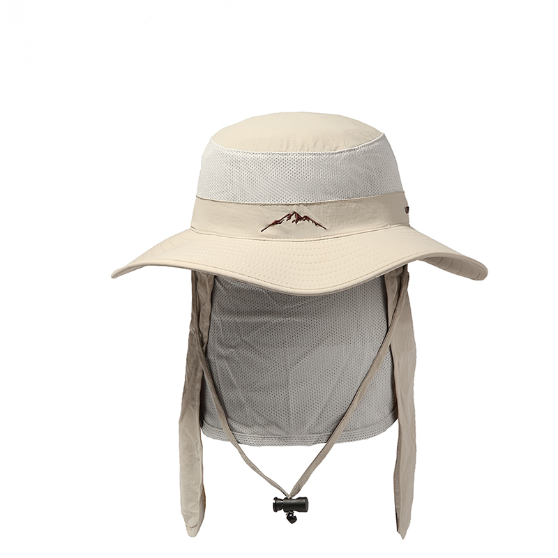 Custom Nylon Folding Outdoor Sun Bucket Hats Wholesale