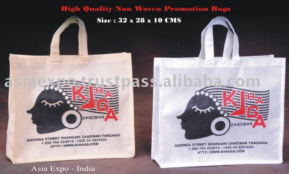 PP Non Woven Shopping Bag with CMYK Offset printing