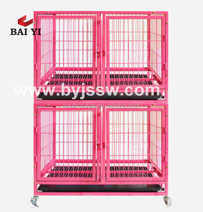 Large Metal Iron Two Tiers Dog Kennel With / Without Spacer Hot Selling In America (Wholesale, Cheap Price)