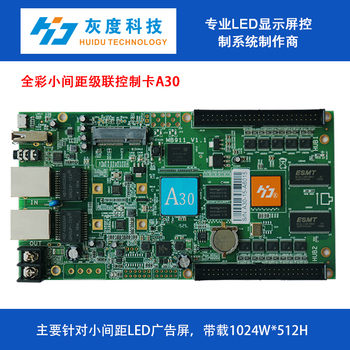 hd huidu hd-A30 asynchronous full color control card best effect support video graphic text