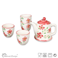 4pcs handpainted ceramic tea set/korean style