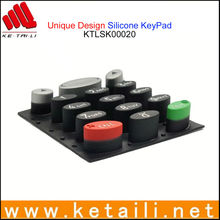 High-quality customzied silicone button/silicone keypad/silicone push button