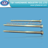 Colored galvanized hex head wood screw