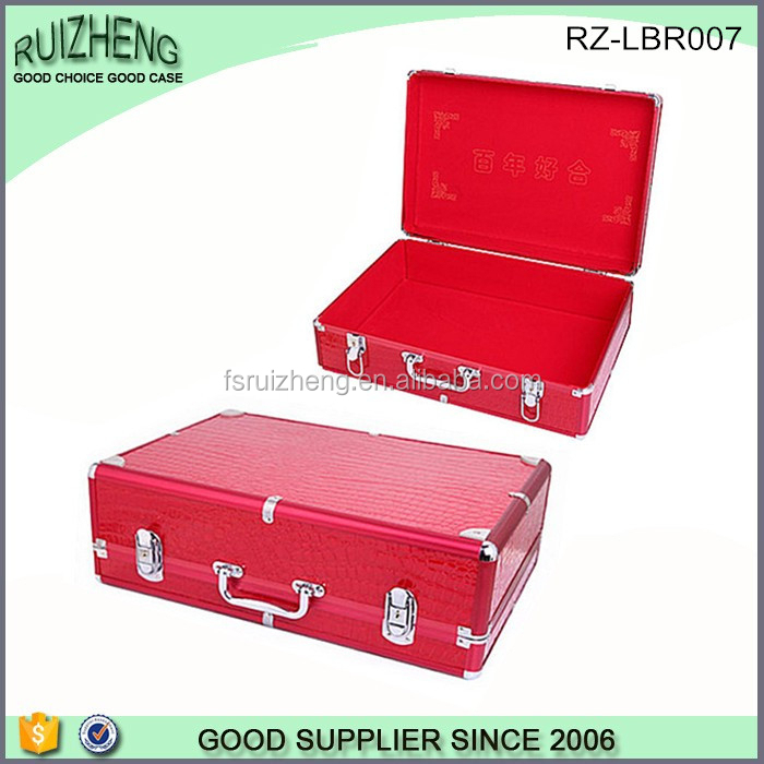 Wholesale red happy aluminum document briefcase for sale