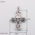 Mens Big Heavy Punk Stainless Steel Skull Pendant