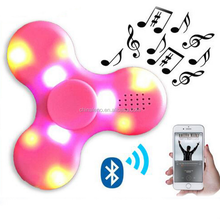 2017 hot sale fidget spinners bluetooth spinner with led light spinner play music