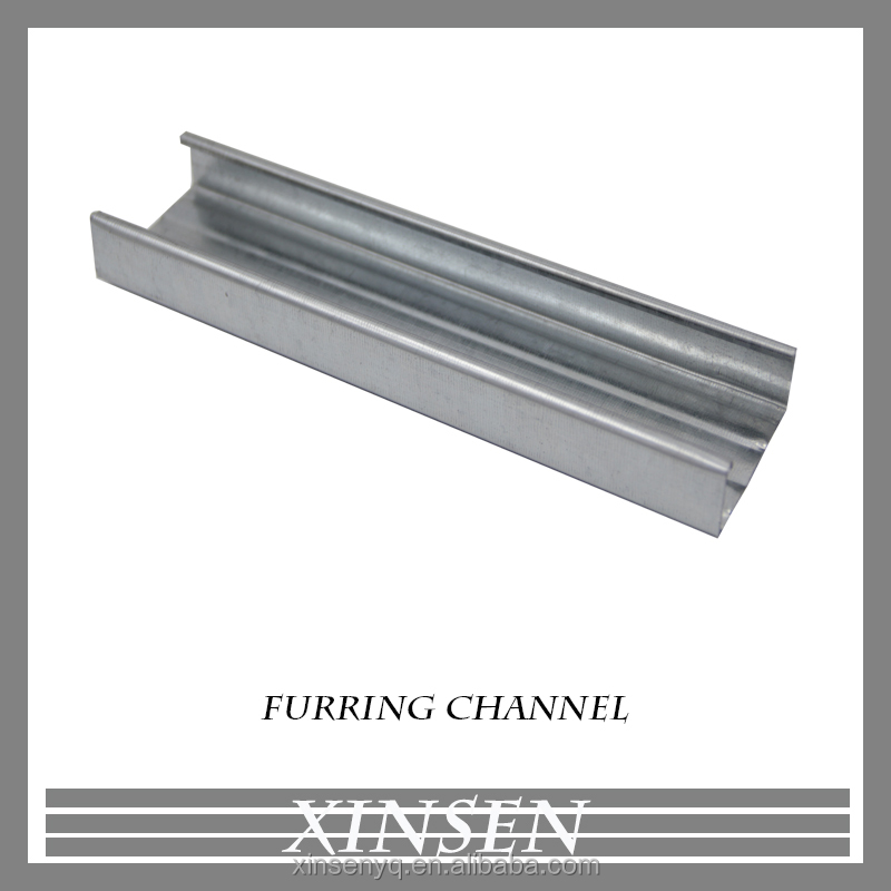 Metal Building Material Light Steel Keel For Ceiling / Furring Channel