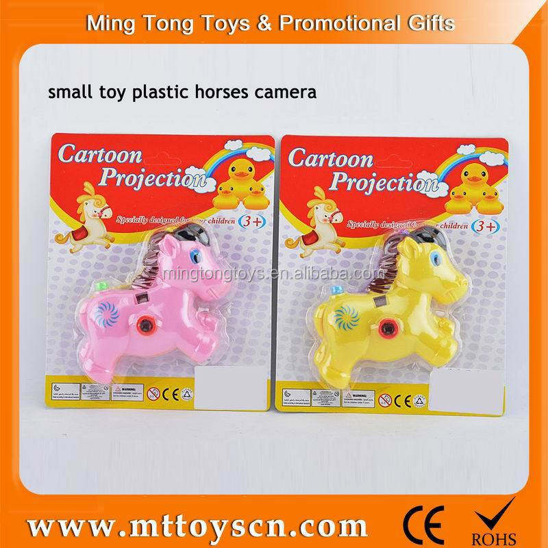 Childre favorite game horse shape mini plastic toy camera