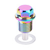 Aluminum Long Thread Type Magnetic Oil Drain Bolt Sump Plug