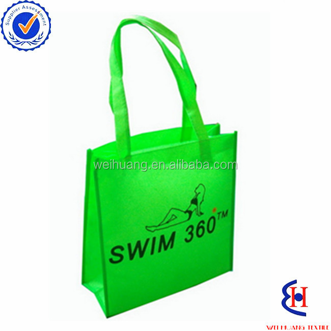 Wholesale natural bamboo- non woven shopping bags recyclable, fashionable promotional bags, fashionable promotional cosmetic bag