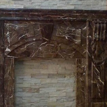 Popular emperador dark marble fireplace