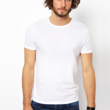 Wholesale cotton men cheap plain white t-shirts