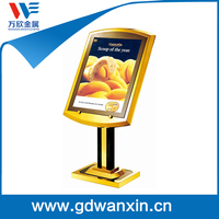 Competitive Price Metal display rack for hotel poster stand