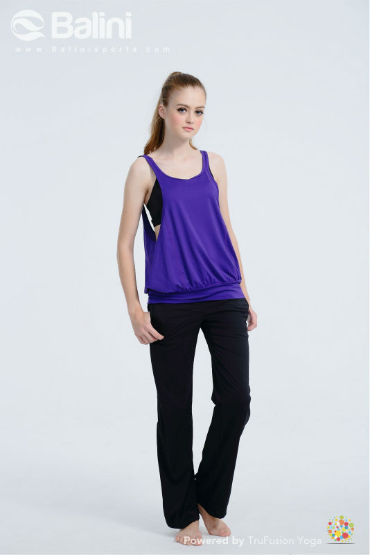 Sporty Jersey Top for Pilates, Hot Yoga, Kettle Bell, Zumba or any aerobics exercise.