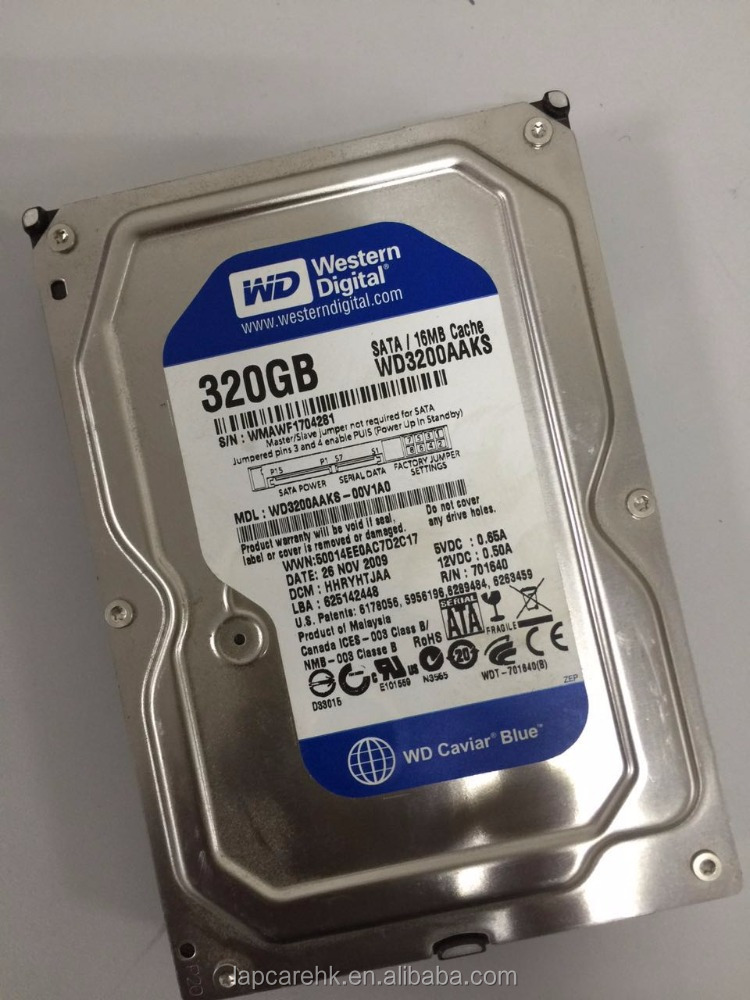 3.5'' used / refurbished hdd 320gb/ SATA 7200rpm internal hard disc drive