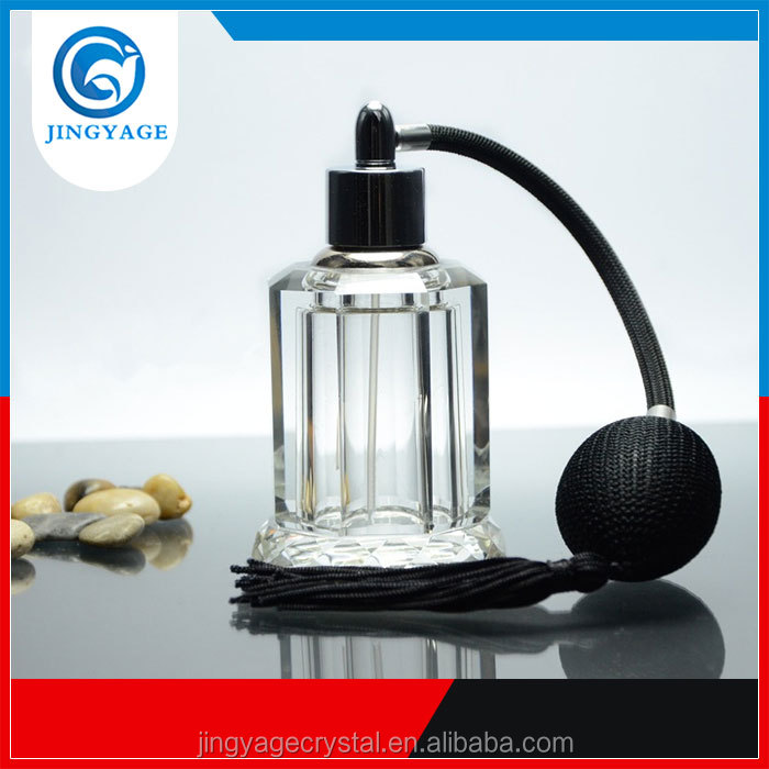 Jingyage Clear Crystal Empty Refillable Perfume Bottle Wedding Decor Gift Stopper 30ml