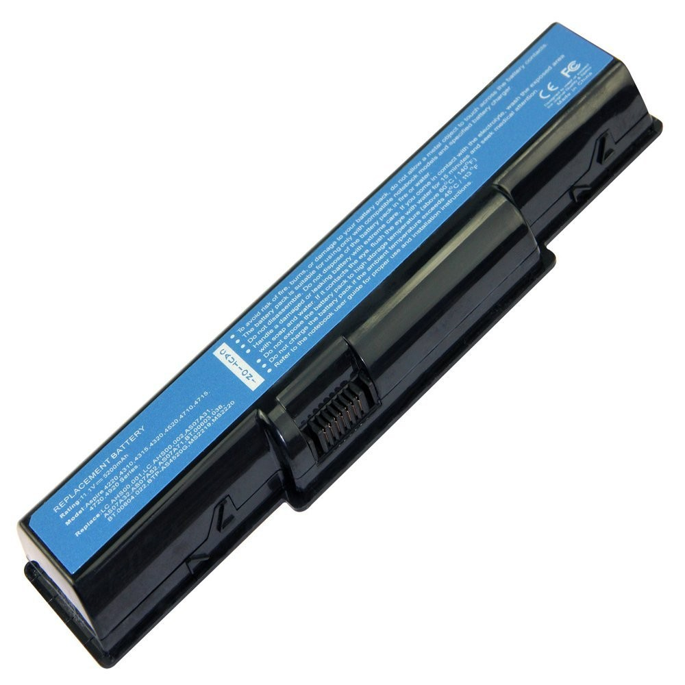 6 Cells 11.1V 5.2Ah 5200mAh Laptop Battery for Acer 4310 4520 4710 4730