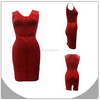 2014 simple design red bandage dress noble wedding dresses