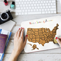 Travel Size Scratch Off USA Map Cool Companion Map During Vacations And Traveling 50 US State AMA-92