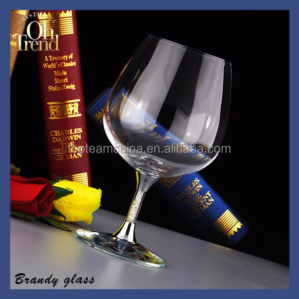 Hand blown water goblet glass wine cup for chirstmas wedding