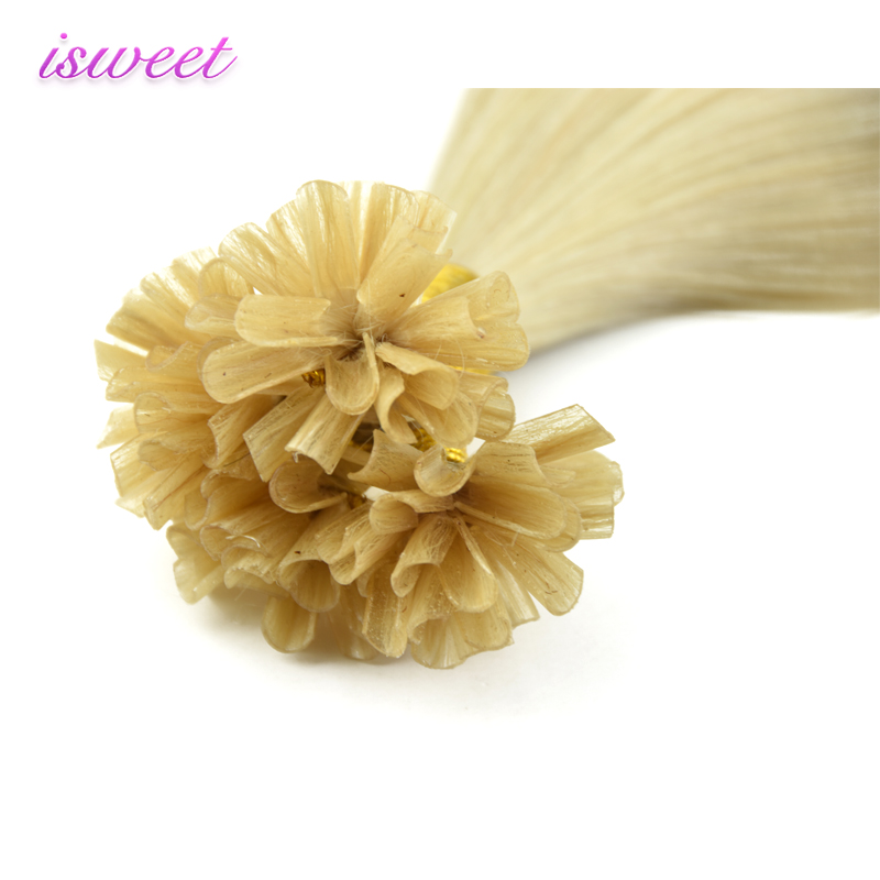 Wholesale Russian blonde remy straight I/U/V/Flat tip double drawn human hair extension pre-bonded virgin hair bundle