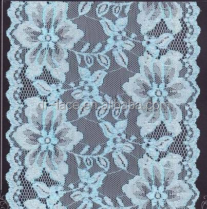 2016 new fashion design customize color flower lace fabric