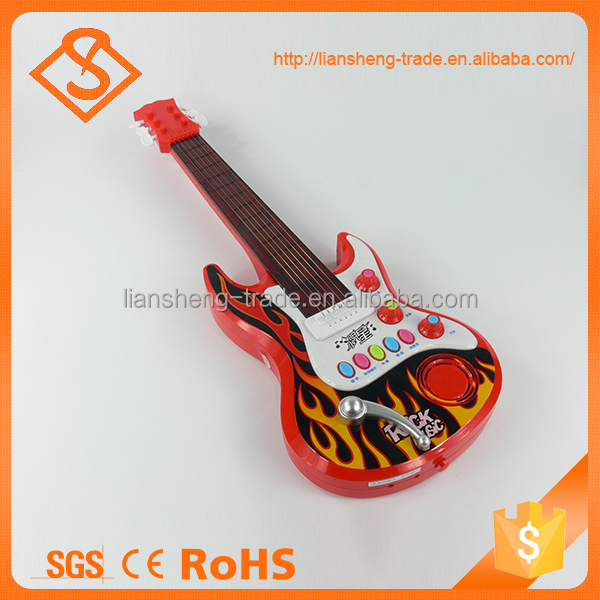Novelty kids musical instruments plastic guitar toy