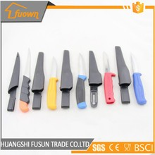 Colorful Stainless Steel Outdoor Pocket Fish Fruit Knife With Plastic Handle