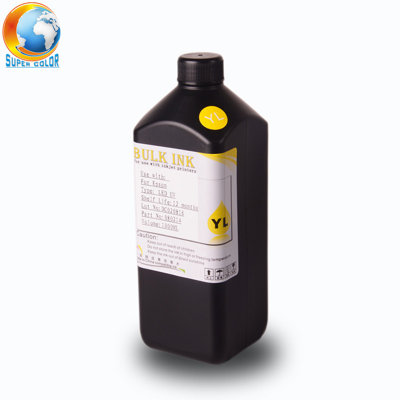 Supercolor 1000 ml/Bottle Tinta UV LED Para EPSON 1390 1400 1410 L800 R290 R330