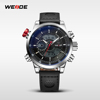 Allibaba com brand your own watches WEIDE sports watch genuine leather band men watches