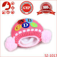 Newborn handmade crochet baby knited hats cute Letter Beanie caps for children fashion adorable design