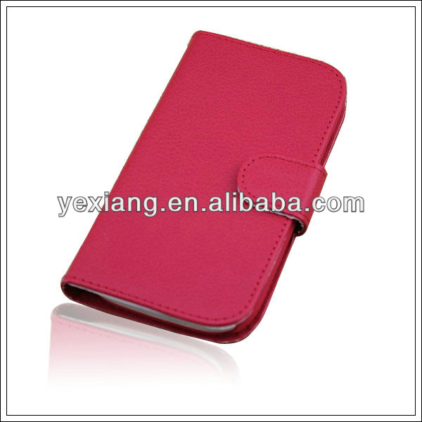 For Samsung galaxy s3 book style leather case for mobile phone