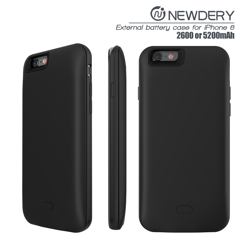 high quality power case cover for apple 6s 2600mah POWER case slim phone charger cover for iphone 6