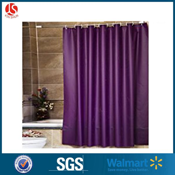 100g 72x72 Amzaon fancy shower curtain packed in polybag